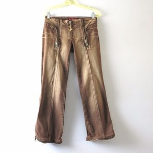 BABY PHAT | Estilo Brown Cropped Stretch Jeans 3